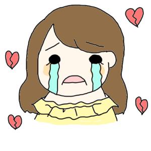 泣いてる女の子 ブレイクハート