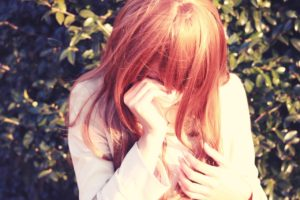 泣いてる可愛い女の子